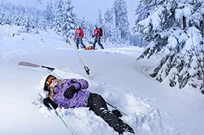 Unfallversicherung - Skiunfall