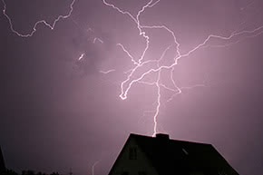 Feuerversicherung - Blitzeinschlag